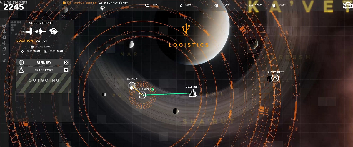 falling frontier space rts PC management game